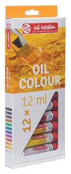 Talens Art Creation peinture à l'huile tube de 12 ml, set de 12 tubes en couleurs assorties