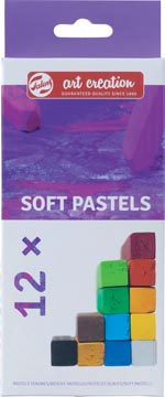 Talens Art Creation pastels tendres, boîte de 12 pièces en couleurs assorties