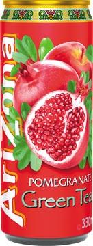 Arizona thé froid Pomegranate Green Tea, canette de 33 cl, paquet de 12 pièces