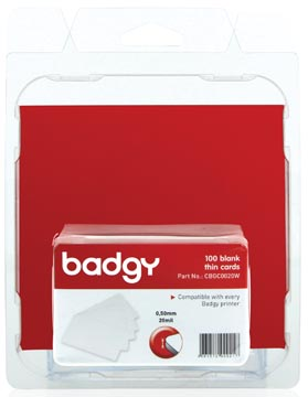 Badgy 100 cartes fines (0.50 mm) pour Badgy100 ou Badgy200