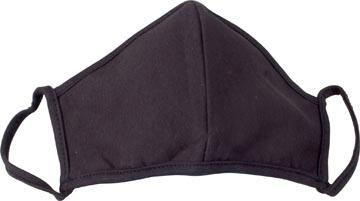 Masque lavable, noir uni, taille: universel, paquet de 5 pièces