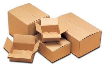 Boîte d'expédition, ft 35,5 x 25,5 x 14,5 cm, brun