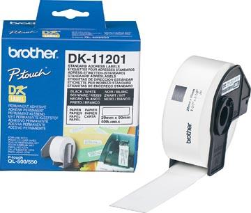 Brother étiquettes pour QL, ft 29 x 90 mm, paquet de 400 étiquettes