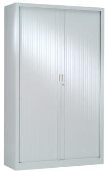 Armoires à rideaux, hauteur 198 cm, gris clair