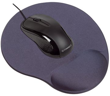 Q-Connect tapis souris gel avec repose-poignet, noir