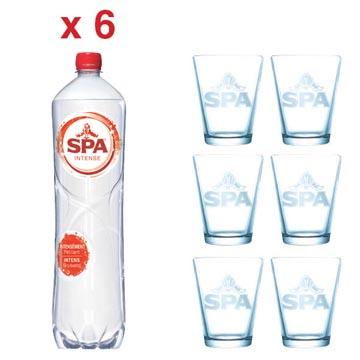 ACTION SPA: 2 x Spa Intense, 1,5 l, 6 pièces (réf. 51840) + GRATUIT 1 x Spa verre, 6 pièces