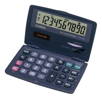 Casio calculatrice de poche SL-210TE
