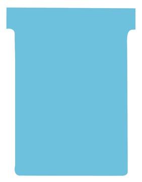 Nobo fiches T indice 3, ft 120 x 92 mm, bleu clair, paquet de 100 pièces