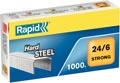 Rapid Agrafes 24/6, acier, boîte de 1.000 agrafes