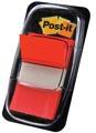 Post-it Index standard, ft 25,4 x 43,2 mm, rouge, dévidoir avec 50 cavaliers